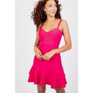 Clover & Sloane | Bustier Ruffle Hem Dress